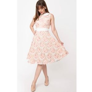 NWT Magnolia Park Embroidered Tulle Swing Dress.